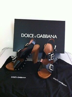 Dolce & Gabbana Womans Black Clogs/Sandals New With Box And Dast Bags Rrp£440