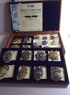 Amerikanische Polizeiabzeichen /Komplett-Collection /Göde