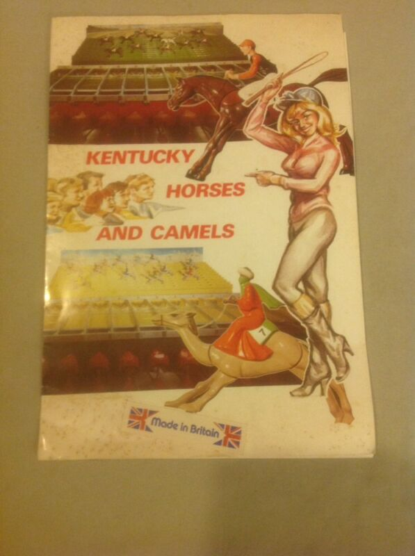ELTON KENTUCKY DERBY British Gambling Game Vintage Advertising Brochure RARE!!