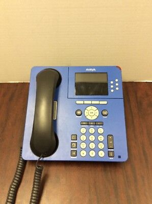 Avaya 9640g Ip Phone 700429095 Blue. Handset And Stand Included.