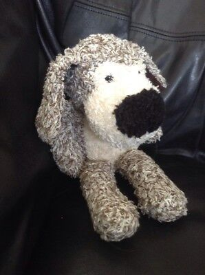 Plush Dog Brown & White W/ Big Black Nose Floppy Stuffed  Animal On The Grass Co - The Stuffed Dog Company