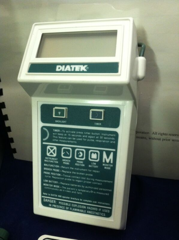 NEW DIATEK 600 Clinical Thermometer System 2 Probes 500 Covers Wall Dispenser