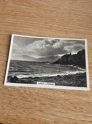 Cigarette Card Senior Service Beautiful Scoland Photo Card Loch Linnhe No 31