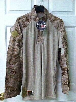 NWT Desert FROG Combat Shirt USMC MARPAT Size Large  Regular