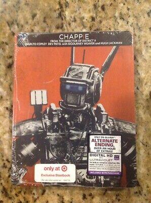 Chappie (Blu-ray+Digital HD ,Steelbook Best Buy)NEW Authentic US