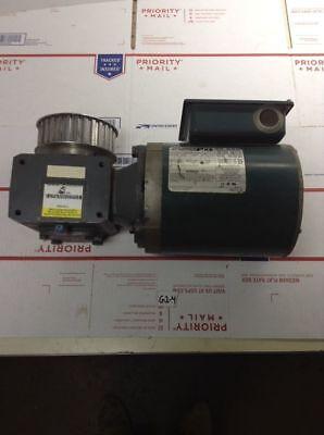 Used Reliance Electric Motor W Boston Gear P56x1526g 12 Hp 230460v Warranty