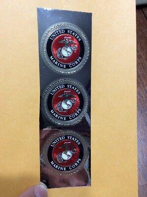 Usmc Seal 1 75  United States Marine Corps Sticker Emblem Eagle Globe Anchor Ega