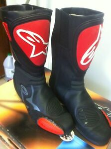ALPINESTARS RACING BOOTS SIZE 9 OR 43 EUROPEAN BLACK/RED NEW Windsor Region Ontario image 5