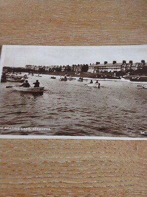 Postcard Used 1932 Boating Lake Skegness Rp 3a Cleethorpes M489