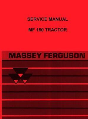 Massey Ferguson Mf 180 Mf180 Tractor Service Shop Manual