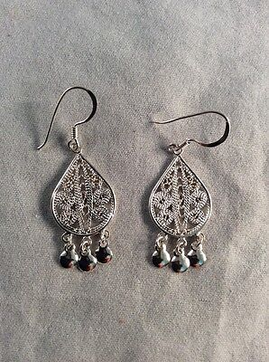 925 Sterling Silver Dangle Earrings Jewelry Box 1