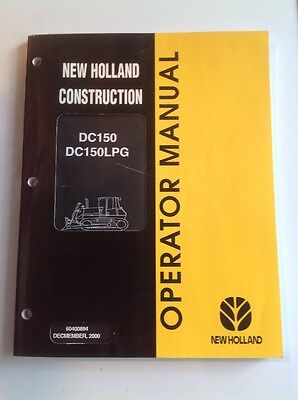 New Holland Dc150 Dc150lpg Crawler Dozer Operators Manual