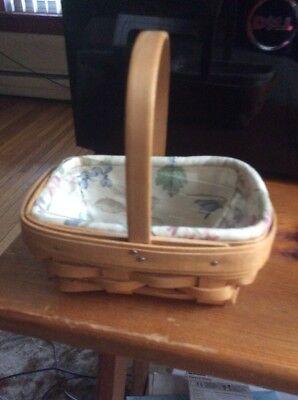 Longaberger 1999 Parsley Booking Basket Combo