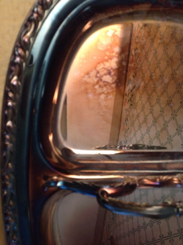 """Silverplate Double Entree Serving Tray Unbranded 11-3/4"""""""