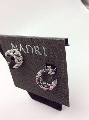 $60 Nadri NADRI Cubic Zirconia Huggie Hoop Earrings #255 (Nadri Huggie Earrings)