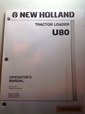 New Holland U80 Tractor Loader Operators Manual