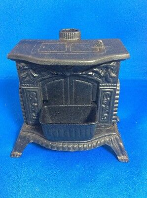 Kyпить Vintage 1980's Greycraft Reproduction Cast Iron Fireplace Stove Bank In Box на еВаy.соm