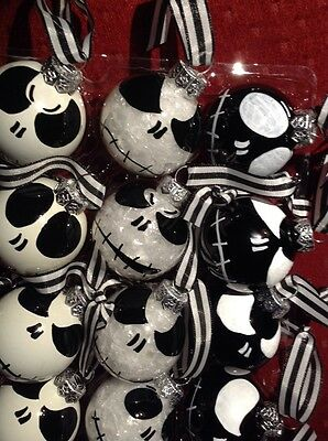 Disney's Nightmare Before Christmas Handmade  Ornaments X18 Glass Ornaments