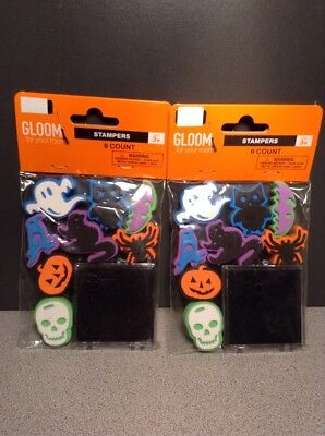 Lot of 2, Halloween Arts Craft Kids Stampers 9 pc Party Favor Foam Stamp SET KIT](Halloween Art Craft)