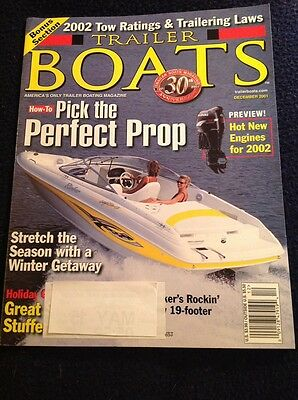 Trailer Boats December Dec 2001 Rinker Pick The Perfect Prop Tow Ratings Laws