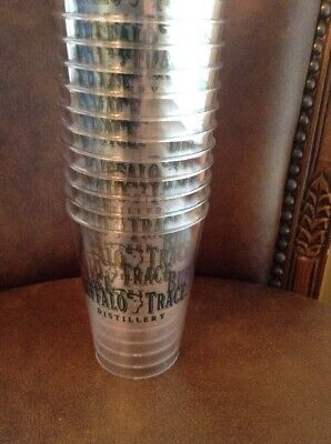 25 New Buffalo Trace Kentucky Bourbon Whiskey Plastic Shot Drink Tasting Glasses