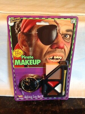 Pirate Make Up Kit With Eye Patch & 1 Earing -UNISEX