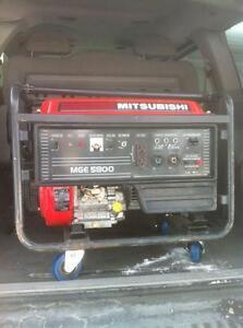 MITSUBISHI MGE5800 GAS GENERATOR WITH NEW WHEEL KIT