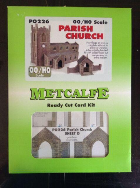 Metcalfe PO226.   Parish Church Ready Cut Card Kit OO Scale.