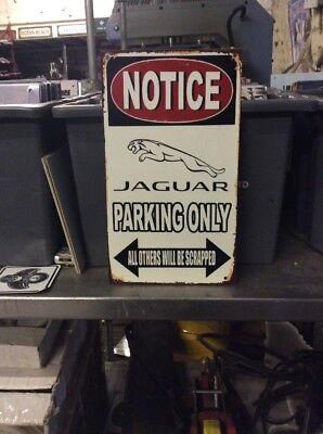Jaguar Parking Only Metal Sign