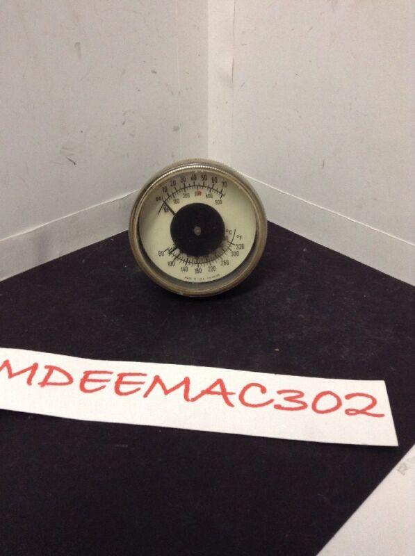 """2.5"""" DIAMETER TRIDICATOR Gauge US GAUGE 1/4"""" BACK OUTLET OEM PEERLESS used"""