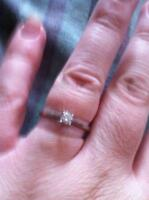 REDUCED.25 Canadian Diamond white gold solitaire engagement ring