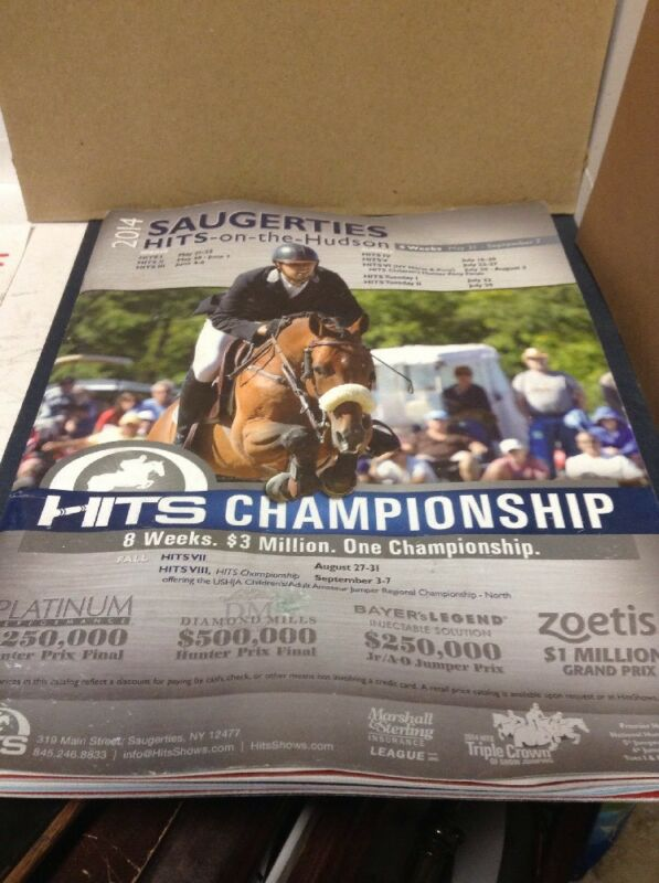 SAUGERTIES HITS-ON-THE-HUDSON  Spring ,2014 equestrian-SHIPS FREE!!!!