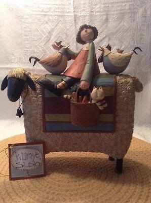 """Williraye Studio """"Farmgirls Forever"""" - Girl Riding Sheep"""