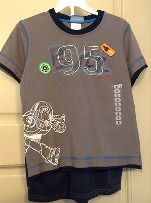 DISNEY TOY STORY Boy's Size 6 BUZZ LIGHTYEAR Shorts Outfit Shirt & Shorts Summer - Buzz Light Year Outfit