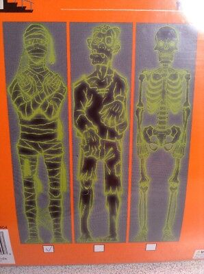 New Halloween Glow In The Dark Decoration Mummy Door Wall Fridge - Halloween Mummy Door Decorations