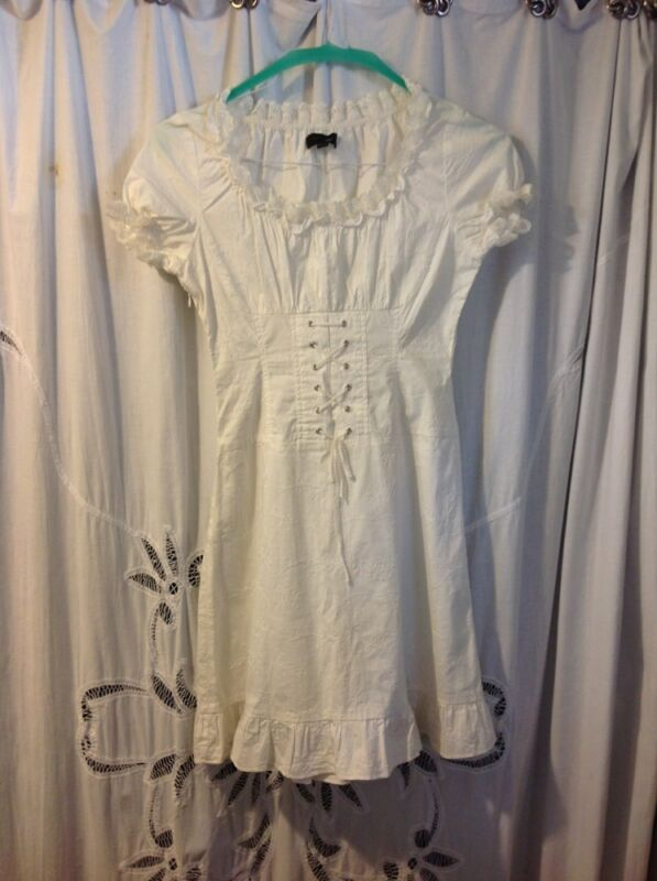 VERO MODA Peasant dress , White Cotton  size S/M , UK 38
