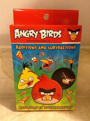 Angry Birds Addition And Subtraction Educational Learning Cards NEW