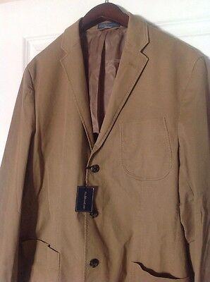 Ralph Lauren Mens Casual Blazer Sport Coat Jacket Italy Khaki 40r Nwt$595