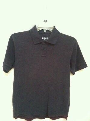 Mens IZOD Navy Blue  Short Sleeve Shirt (school Uniform) Size Medium