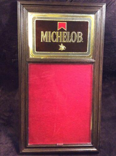 Vintage Michelob Beer Anhueser Busch Sign 1986 Advertising Menu Mirror 31x17