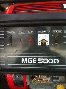 MITSUBISHI MGE5800 GAS GENERATOR WITH NEW WHEEL KIT Windsor Region Ontario image 6