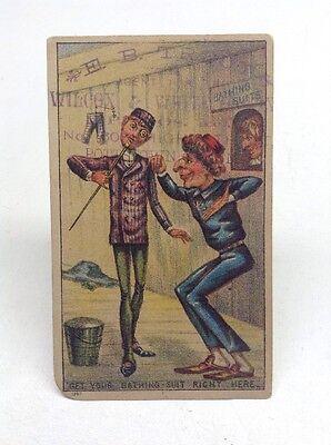 Rare Vintage Bathing Suit Victorian Trade Card Pottstown PA
