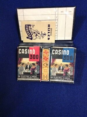 CASINO 300  VINTAGE  PLAYING CARDS AND POKER DICE PACK