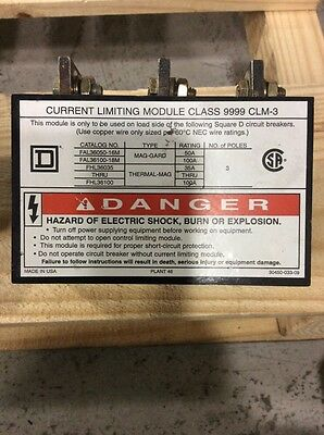 Square D Current Limiting Module Class 9999 Clm-3 35-100 Amp