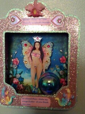 Nicki Minaj Fairy Shadowbox,one-of-a-kind Swarovski, folk art