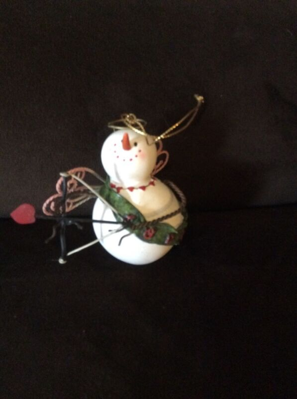 KIRKLAND HOLIDAY ORNAMENT CUPID SNOWMEN FOR THE MONTH OF FEBRUARY