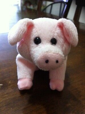 Ty Beanie Babies Sniffs Pink Pig