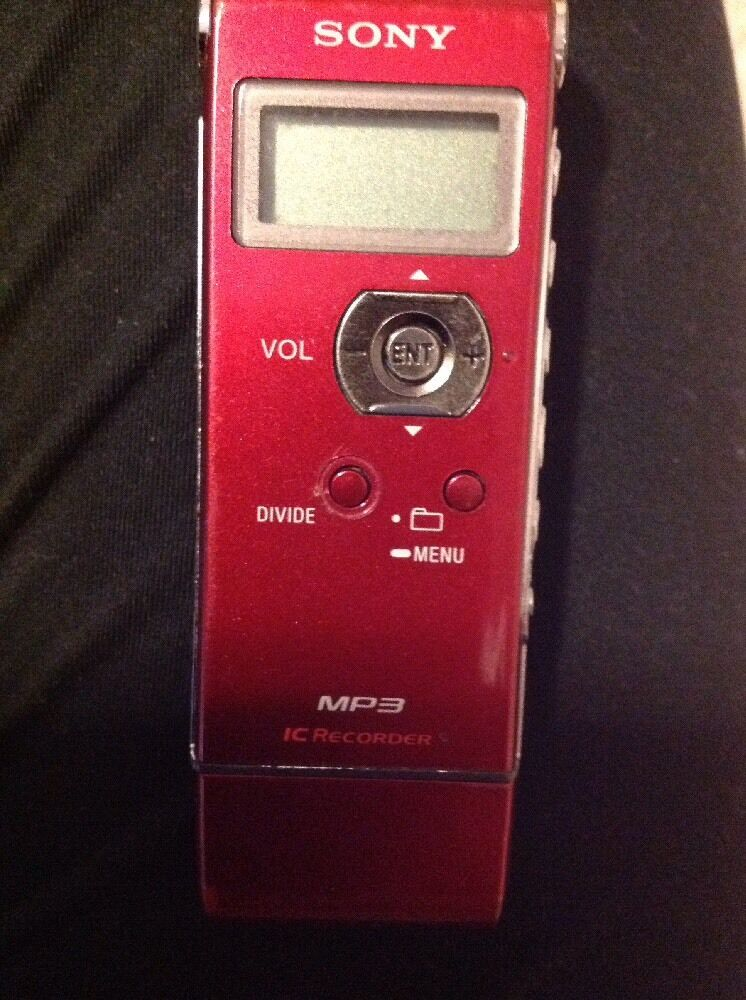 Sony IC Recorder - RED - pre-owned but in great shape