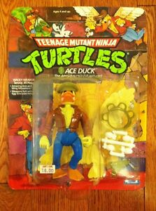 1989-TMNT-TEENAGE-MUTANT-NINJA-TURTLES-ACE-DUCK-HAT-OFF-ACTION-FIGURE-TOY-MOC