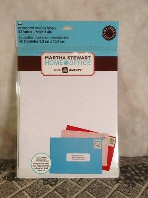 Avery Martha Stewart Home Office Permanent Mailing Labels 42 - 1 516 X 4